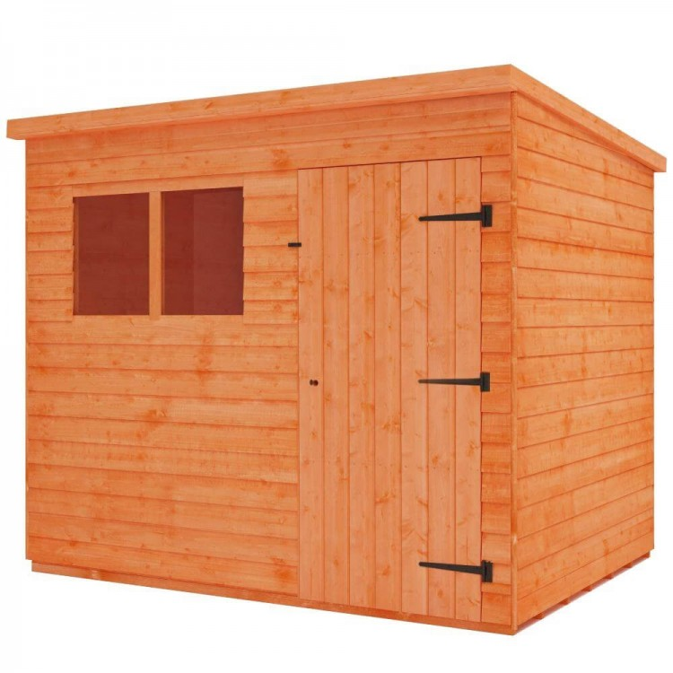 7 x 5 Foot Overlap Pent Shed